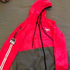 PINK Victoria's Secret Jackets & Coats - Victoria's Secret pink rain jacket